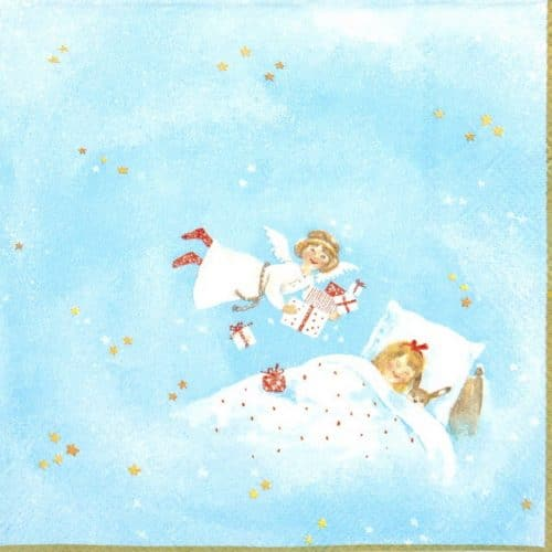 Paper Napkin - Dreaming of Christmas Blue