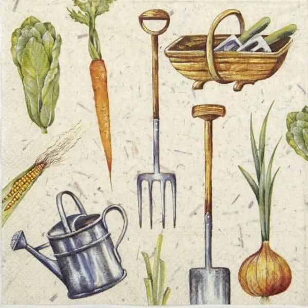 Paper Napkin - I love Gardening