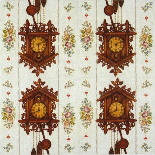 Paper Napkin - Cuckoo-clock