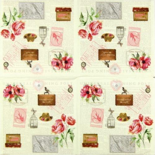 Paper Napkin - Marieke Flower