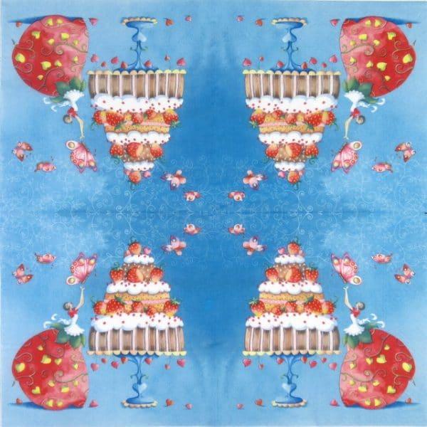 Lunch Napkins (20) -  Strawberry Cake