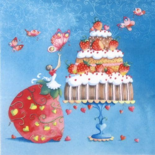 Lunch Napkins (20) -  Strawberry Cake
