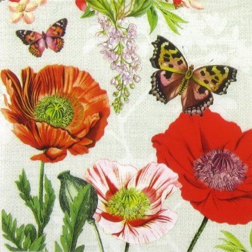 Paper Napkin - Poppy Field