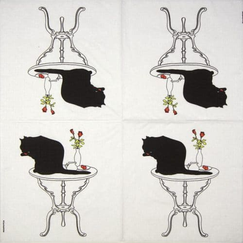 Paper Napkin - Sue Boettcher: Black Cat Bath