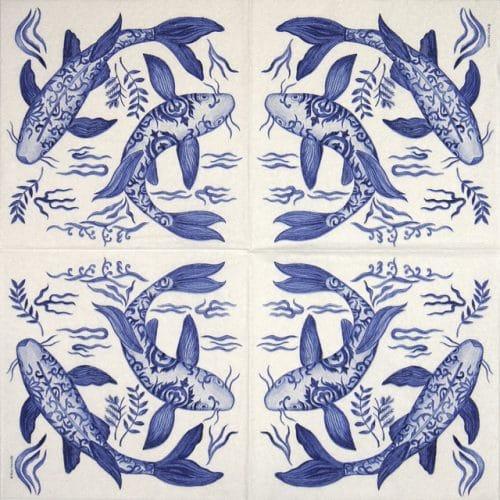 Paper Napkin - Ron Tanovitc: Emperor's Koi