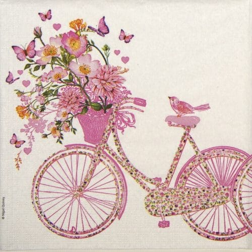 Paper Napkin - Nigel Quiney: Happy Bike