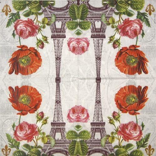 Paper Napkin - Adriana Sanmartin: La Tour Eiffel
