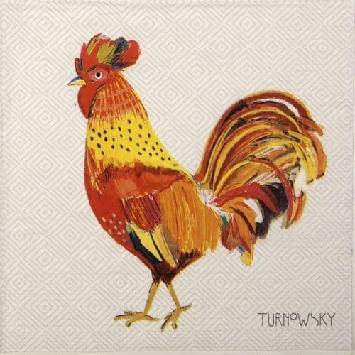 Paper Napkin - Turnowsky: Le coq