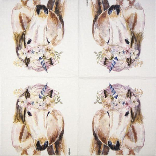 Lunch Napkins (20) - Jennifer Redstreake: Pretty Unicorn