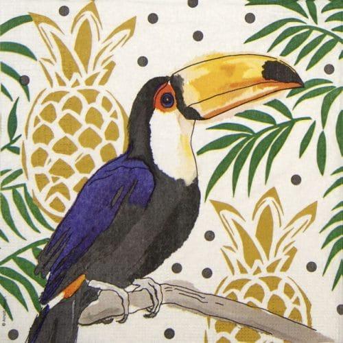 Paper Napkin - Arnolt Design: Tropical Tucan
