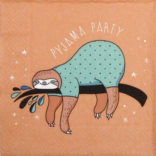 Paper Napkin - Pyjama party