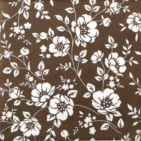 Paper Napkin - Ornament Bushes Brown