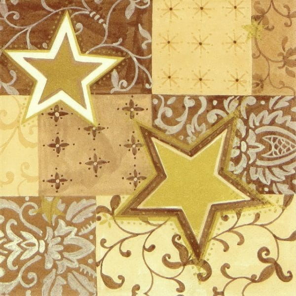 Paper Napkin - Christmas Stars and Shapes