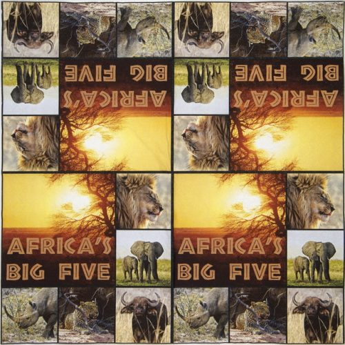 Paper Napkin - Africa big five