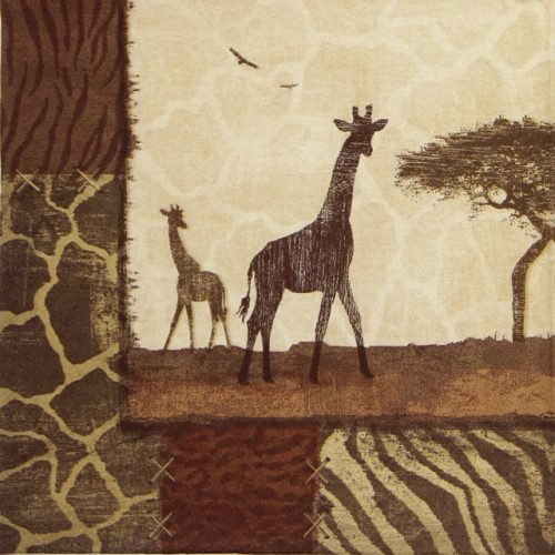 Paper Napkin - Giraffe Collage