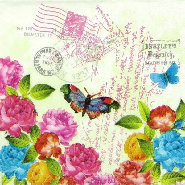 Paper Napkin - Spring Letter