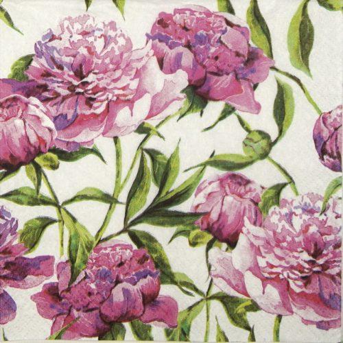 Paper Napkin - Pink Peonies