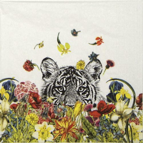 Lunch Napkins (20) - Rococco LA: Happy Tiger