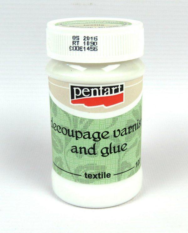 Pentart Decoupage varnish and glue for textile 100ml