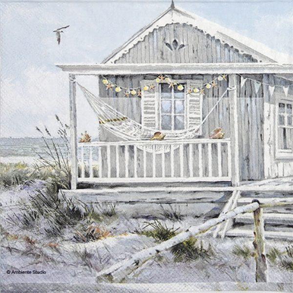 Cocktail Napkin - Beach Cabin