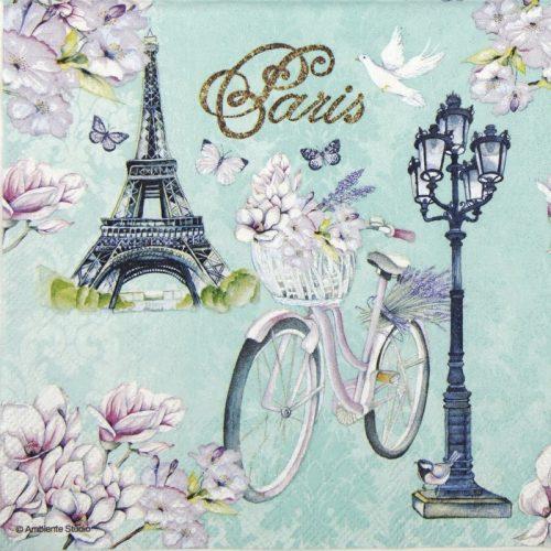 Cocktail Napkins (20) - Bike in Paris