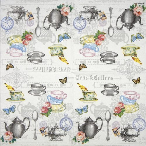 Cocktail Napkins (20) - Tea mix white