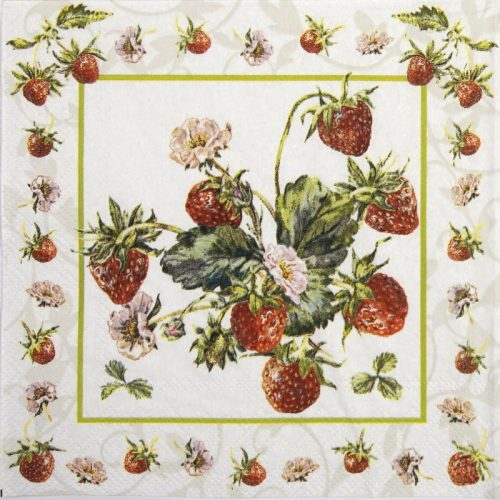 Cocktail Napkin - Fresh Strawberries