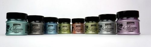 Pentart Delicate Silky Metallic Acrylic Paint 50ml Various Colours