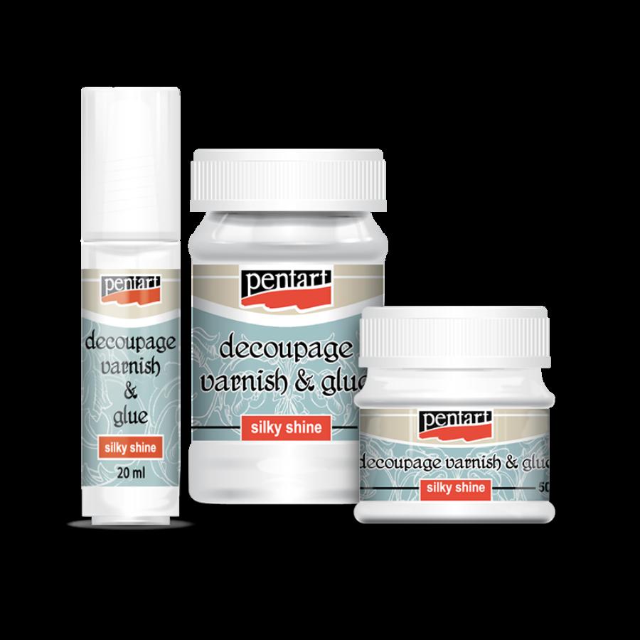 Pentart Decoupage Varnish and Glue Silky Shine 100ml or 230ml sealer adhesive