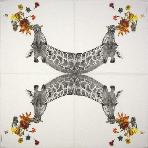 Cocktail Napkin -  Rococco: Happy Giraffe