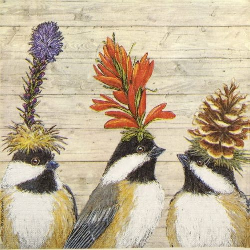 Cocktail Napkin - Vicki Sawyer: The Chickadee Sisters