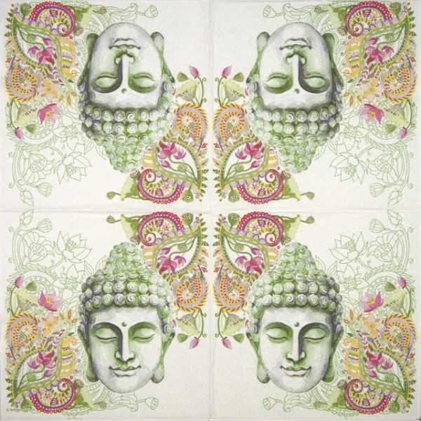 Lunch Napkins (20) - Buddha Head green