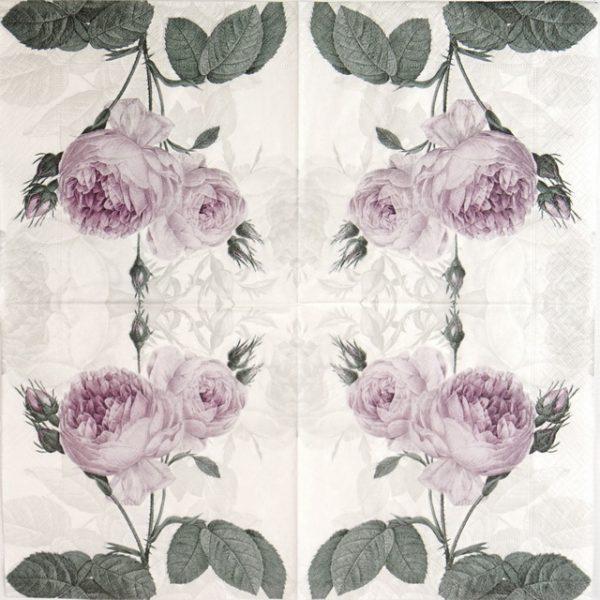Paper Napkin - Purple Rose