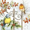 Lunch Napkins (20) - Birds and Holly