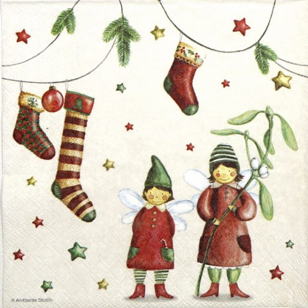 Paper Napkin - Christmas Fairies