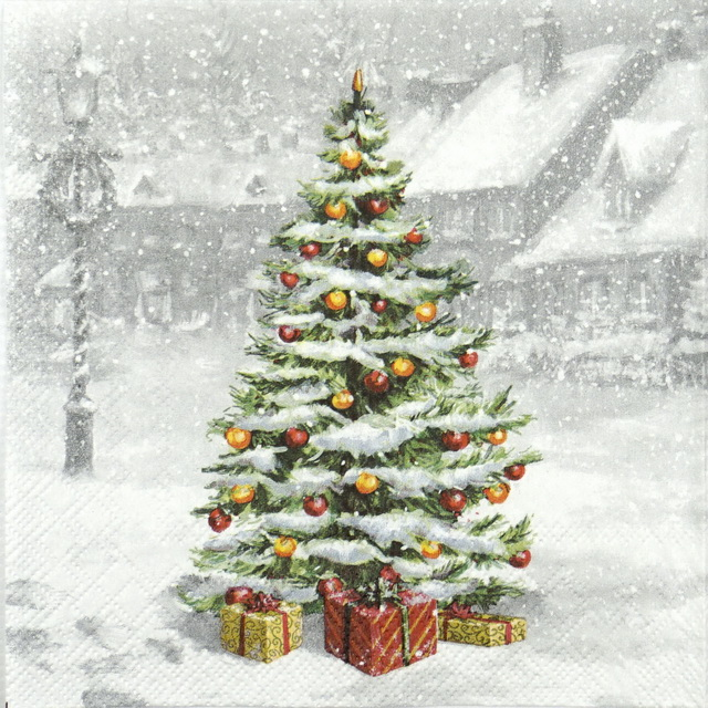 Paper Napkin - Tree on Square
