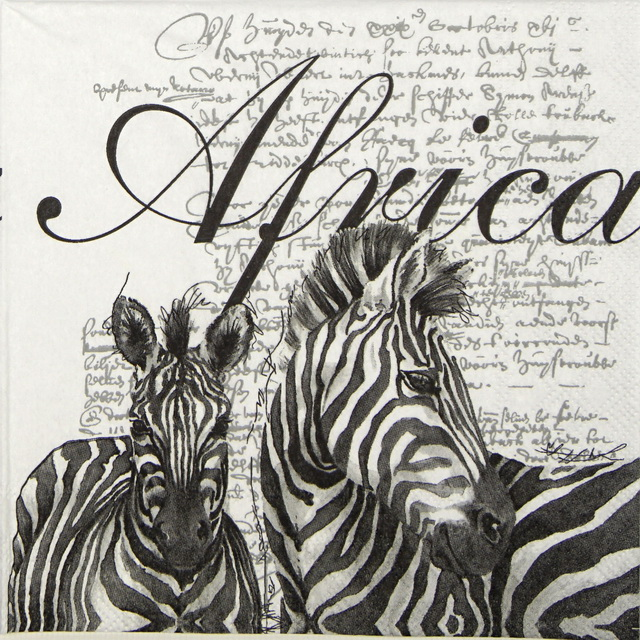 Lunch Napkins (20) - Africa White