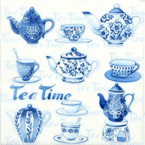 Paper Napkin - Tea moments blue
