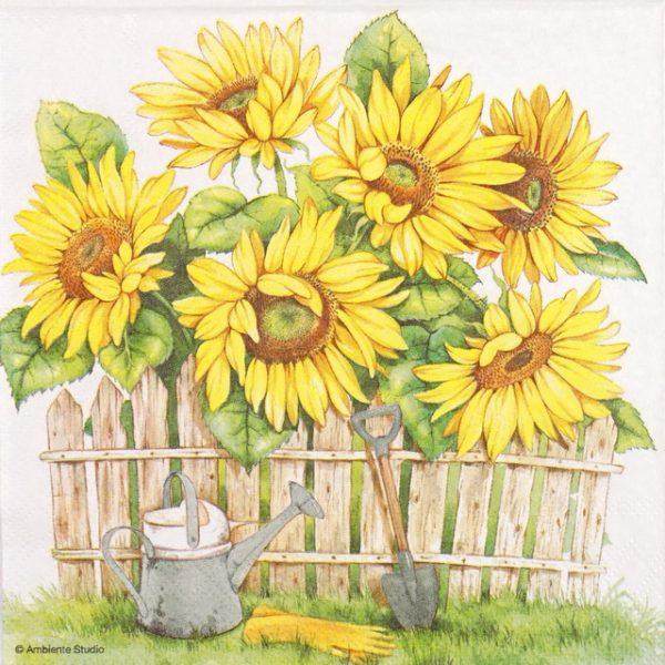 Lunch Napkins (20) - Garden Of Sunflowers