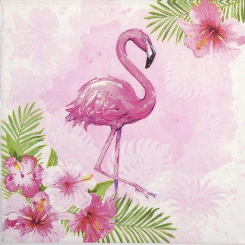 Paper Napkin - Watercolour Flamingo