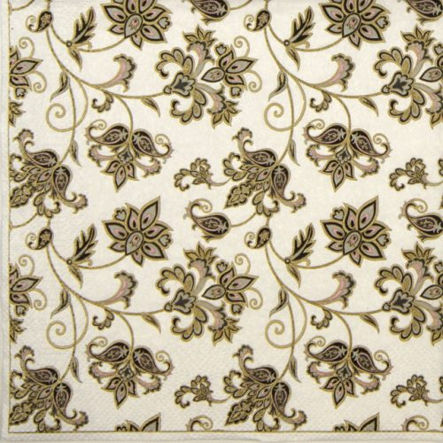 Lunch Napkins (20) - Floral Oriental Background