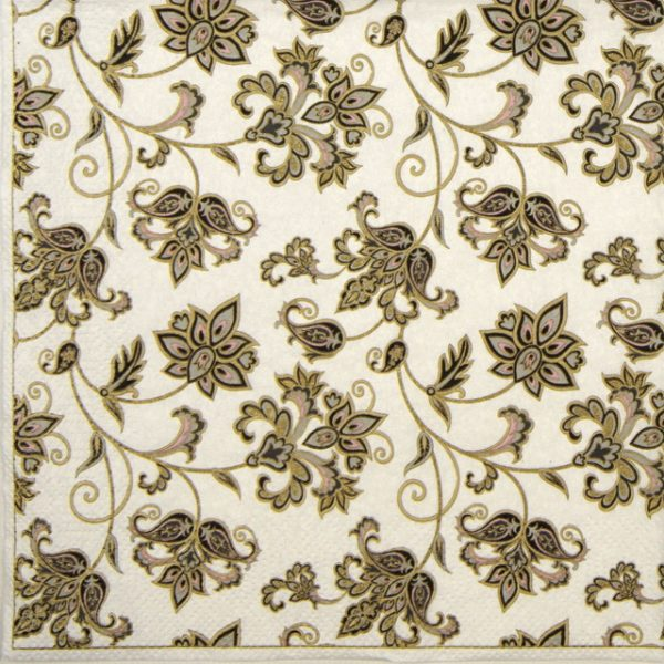 Paper Napkin - Floral Oriental Background