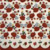 Paper Napkin - Poppies Embroidery Pattern