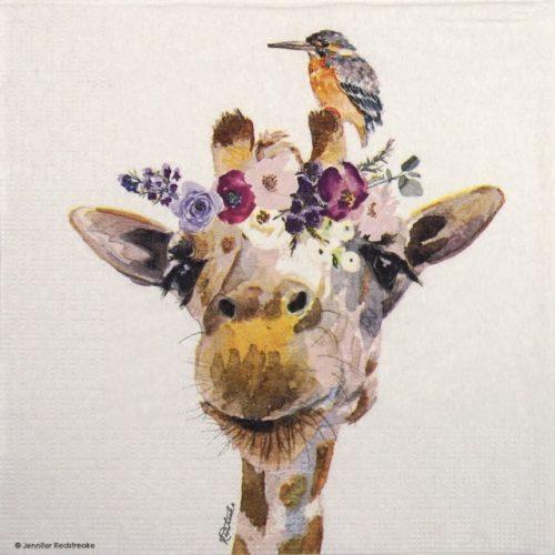 Lunch Napkins (20) - Jennifer Redstreake: Pretty Giraffe