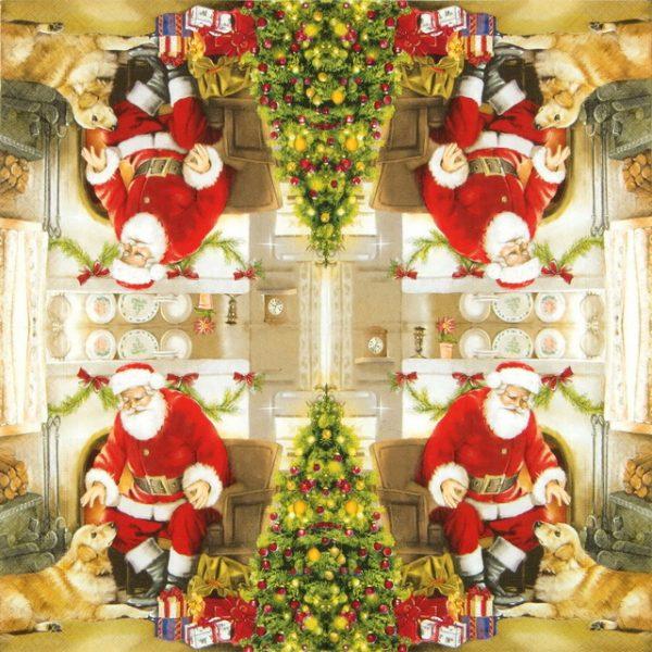 Paper Napkin - Welcome Father Santa
