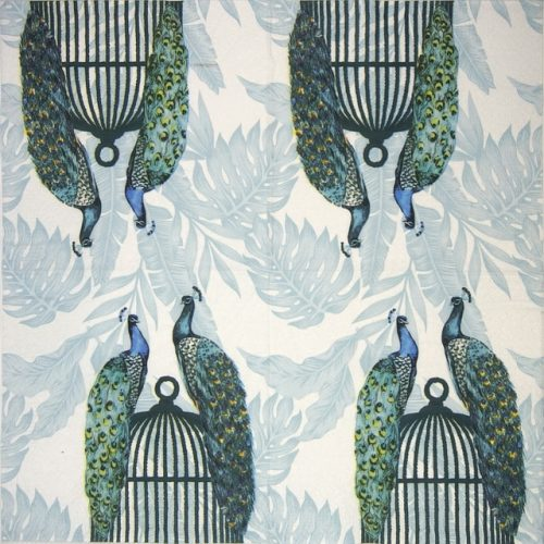 Paper Napkin - Peacocks