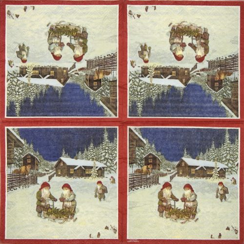 Paper Napkin - Dwarf in the Snow