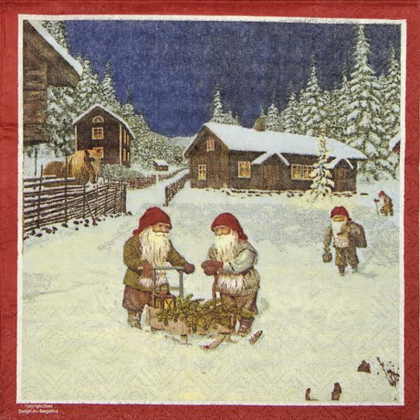 Lunch Napkins (20) - Dwarf in the Snow