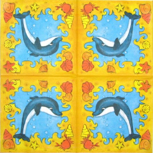 Paper Napkin - Dolphin