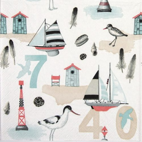 Lunch Napkins (20) - Beach Numbers